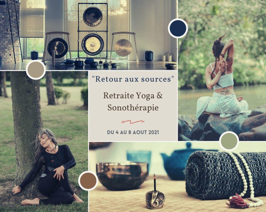 """retraite de yoga et Sonotherapie """" retours aux sources """" aux domaine des deux clos"""
